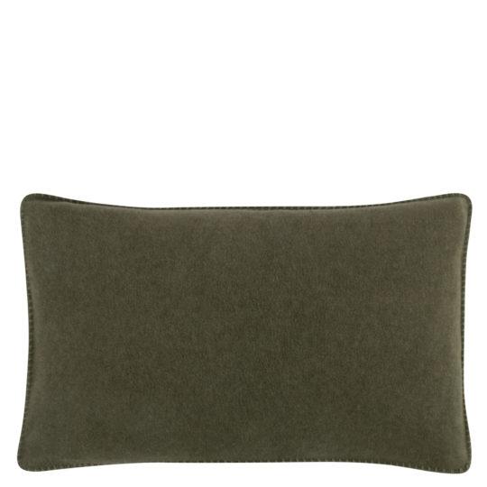 Cushion cover 30x50cm in military green, zoeppritz Soft-Fleece