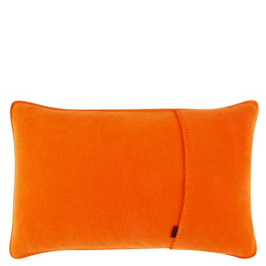 Kissenbezug 30x50cm in orange, flauschig aus Fleece, zoeppritz Soft-Fleece