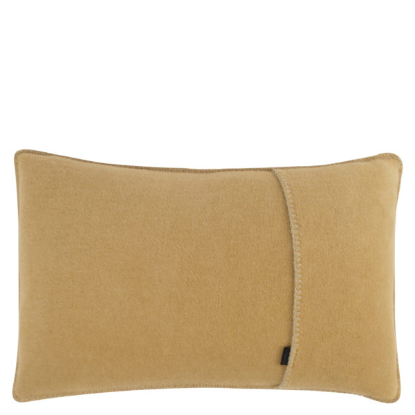 Kissenbezug 30x50cm in camelfarben, flauschig aus Fleece, zoeppritz Soft-Fleece