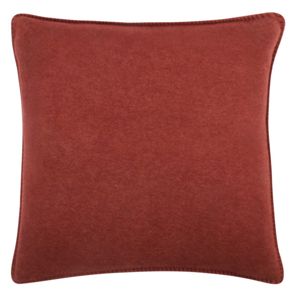 Cushion cover 50x50cm in copper color, zoeppritz Soft-Fleece
