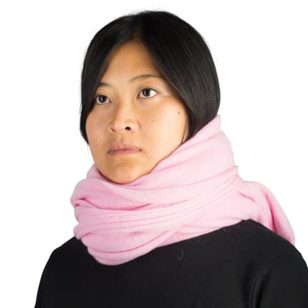 Kaschmirschal fuer Damen und Herren, rosa in 110x150cm, zoeppritz Hot