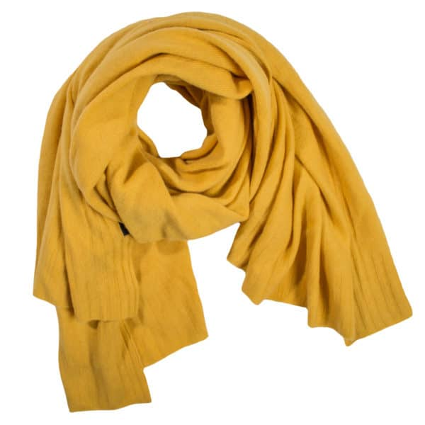 Cashmere scarf for women and men, saffron yellow in 110x150cm, zoeppritz Hot