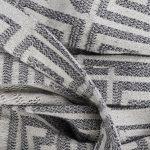 Bademantel fuer Herren und Damen in L-XL, schwarz-beige aus Baumwolle, zoeppritz Sunny Leg