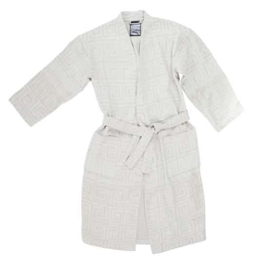 Bathrobe for men and women in l-xl, white, cotton, zoeppritz Sunny Leg