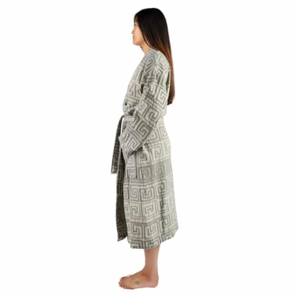 Bathrobe for women and men in s-m, black, cotton, zoeppritz Sunny Leg