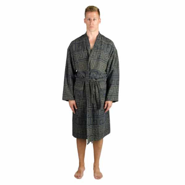 Bademantel fuer Herren und Damen in L-XL, jaegergruen aus Baumwolle, zoeppritz Sunny Leg