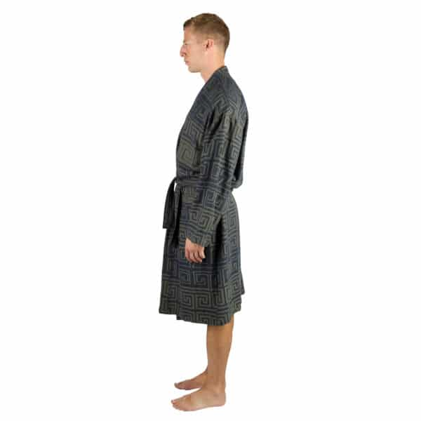 Bathrobe for men and women in l-xl, huntergreen, cotton, zoeppritz Sunny Leg