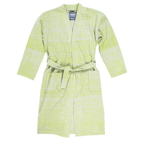 Bathrobe for men and women in l-xl, acid green, cotton, zoeppritz Sunny Leg