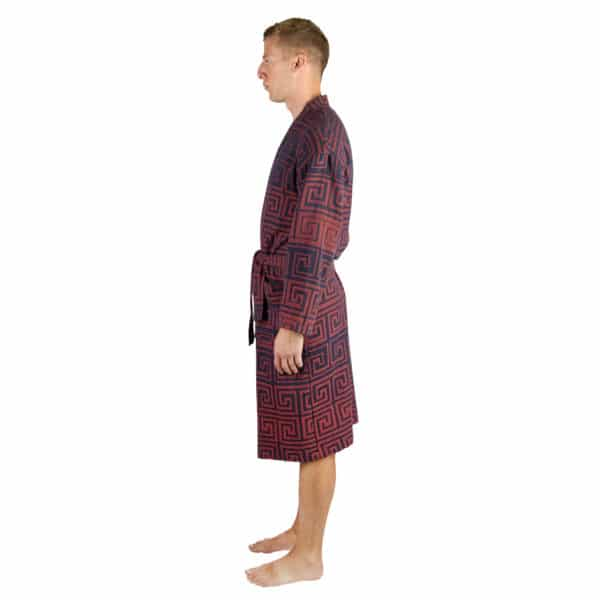 Bathrobe for men and women in l-xl, brick, cotton, zoeppritz Sunny Leg