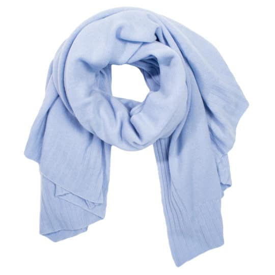 Cashmere scarf for women and men, water blue in 110x150cm, zoeppritz Hot
