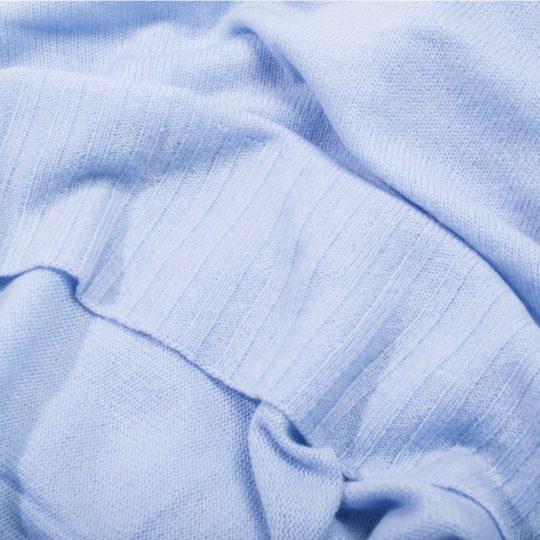 Kaschmirschal fuer Damen und Herren, hellblau in 110x150cm, zoeppritz Hot