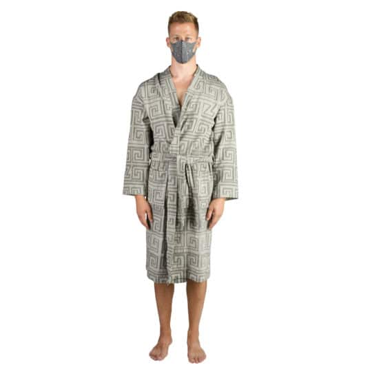 Bathrobe for men and women in l-xl, black, cotton, zoeppritz Sunny Leg