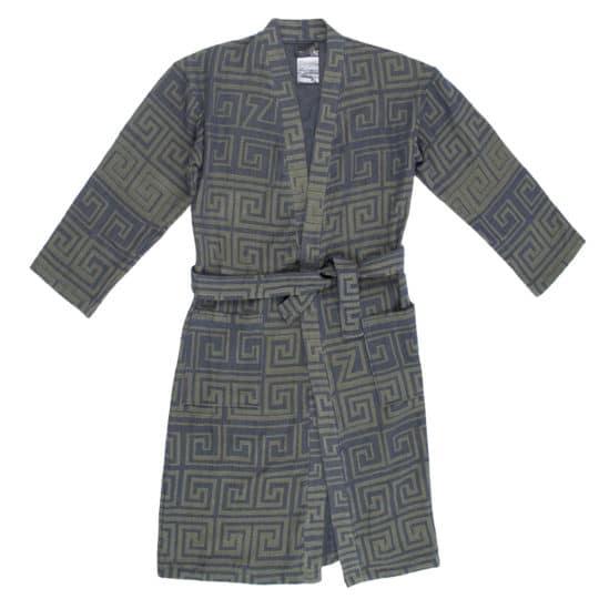 Bathrobe for women and men in s-m, huntergreen, cotton, zoeppritz Sunny Leg