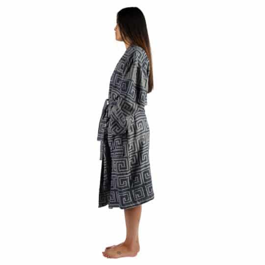 Bathrobe for women and men in s-m, seashell, cotton, zoeppritz Sunny Leg