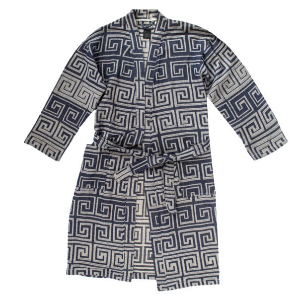 Bathrobe for men and women in l-xl, seashell, cotton, zoeppritz Sunny Leg