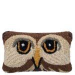 Kissen mit Eulenmotiv 20x30cm, braun aus Wolle und Baumwolle, zoeppritz Wiseowl
