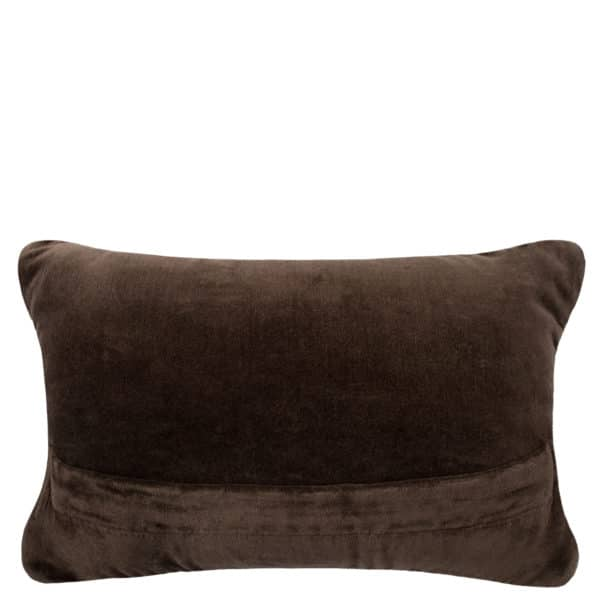 Cushion for sofa with animal print 20x30cm in brown, wool and cotton, zoeppritz Wiseowl