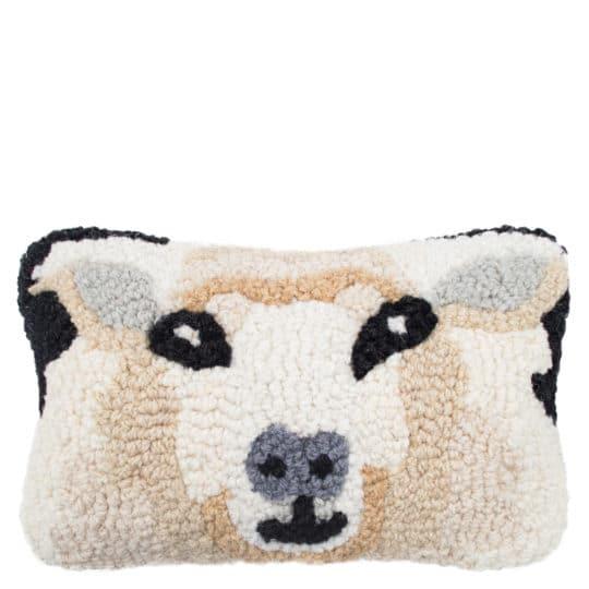 Kissen mit Schafmotiv 20x30cm, weiss aus Wolle und Baumwolle, zoeppritz Sheep