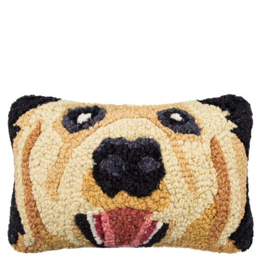 Kissen mit Hundemotiv 20x30cm, Golden Retriever in schwarz aus Wolle und Baumwolle, zoeppritz Retriever