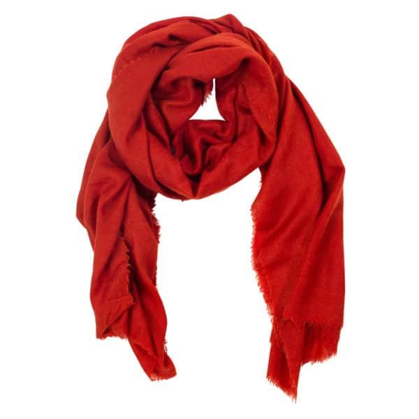 Schal aus Wolle und Kaschmir fuer Damen und Herren, orange in 100x200cm, zoeppritz Craft