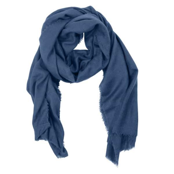 Schal aus Wolle und Kaschmir fuer Damen und Herren, blau in 100x200cm, zoeppritz Craft