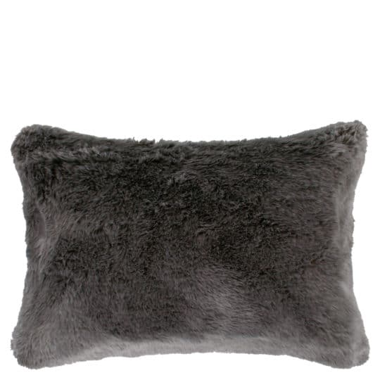 Kissenhuelle aus Kunstfell, grau in 30x40cm, zoeppritz Serenity
