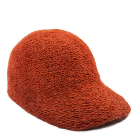 Sportive cap for women and men in orange, zoeppritz Cavalier