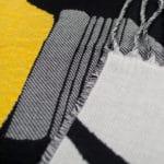 Blanket for sofa in 155x190cm, black with lightning bolts and lightbulb, zoeppritz bulb flashing