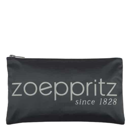 Clutch fuer Damen mit Zoeppritz-Logo-Branding in 33x19cm, grau, zoeppritz label clutch