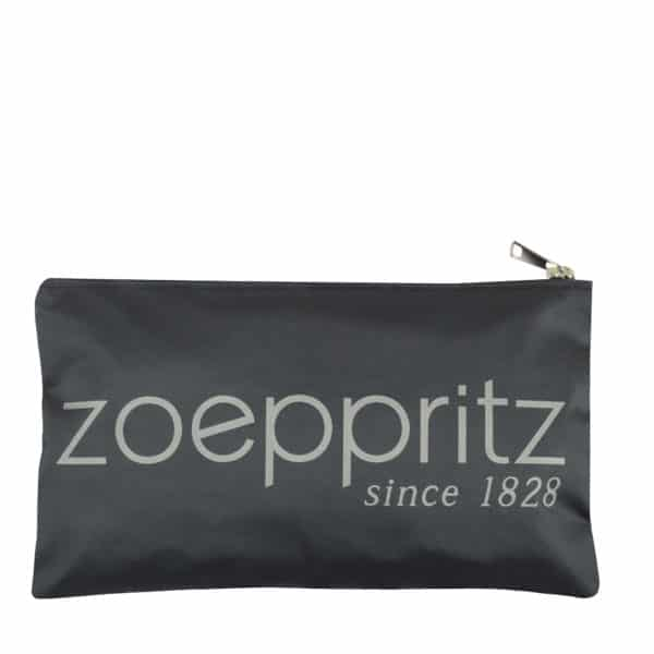 Clutch for women with Zoeppritz label branding in 33x19cm, grey, zoeppritz label clutch