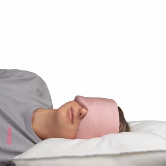 Schlafmaske aus Modal Baumwolle und Seide fuer Frauen und Maenner in rosa, zoeppritz Close Them