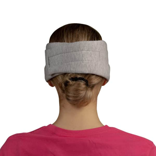 Sleep mask from modal cotton and silk for women and men in light grey, zoeppritz Close Them